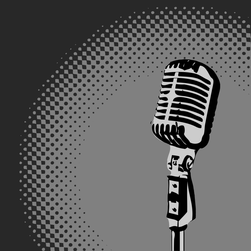 Retro-Microphone-Spotlight-vector