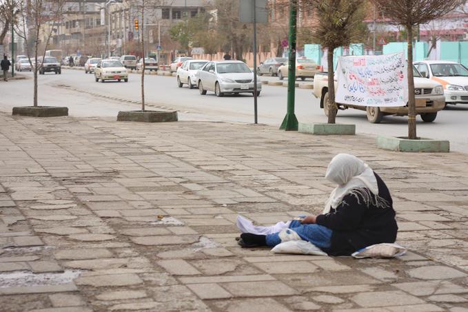 elderly beggar