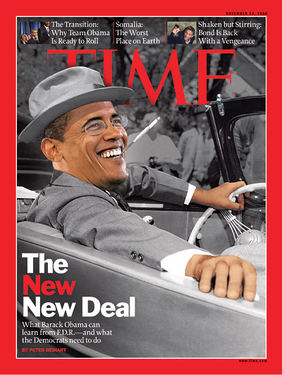 Time cover FDR Obama