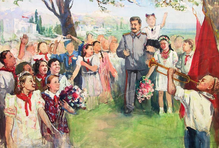 stalin and children