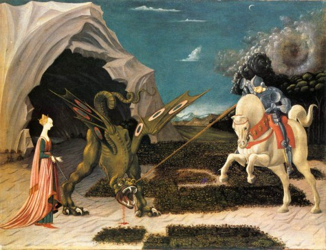 "Painting: ""St. George and the Dragon"", by Paolo Uccello (~1456)"