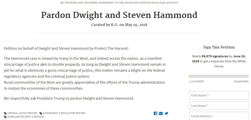 Hammonds Petition3