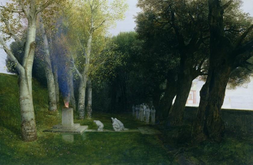 bocklin (1827 - 1901) sacred grove (1886)