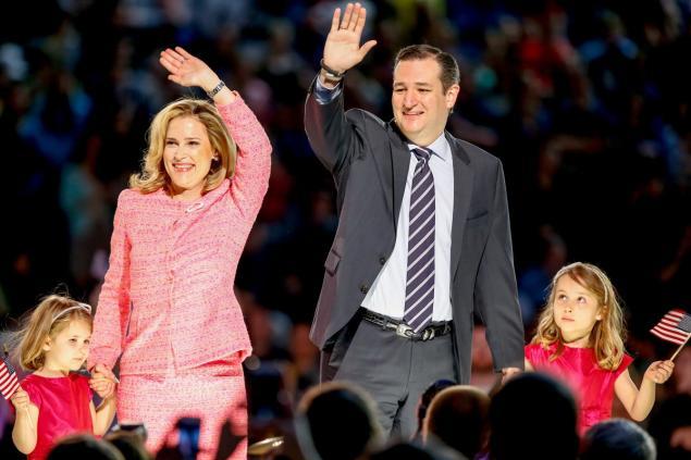 Texas senator Ted Cruz, his wife Heidi Cruz and their two daughters