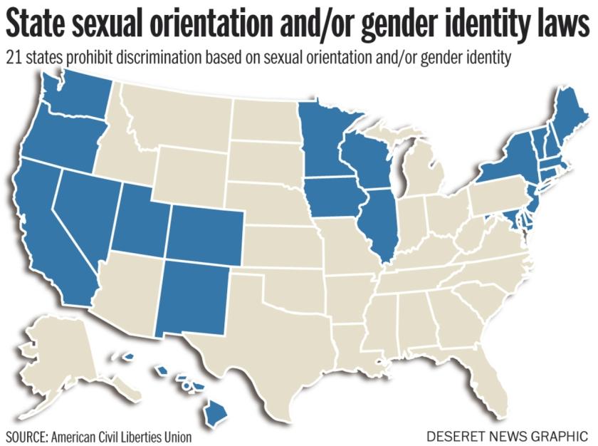 21 states have SOGI anti-discrimination laws