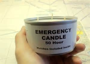 emergency candles for disasters and grid-down