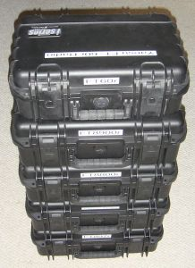 Radios stored in Hard Case