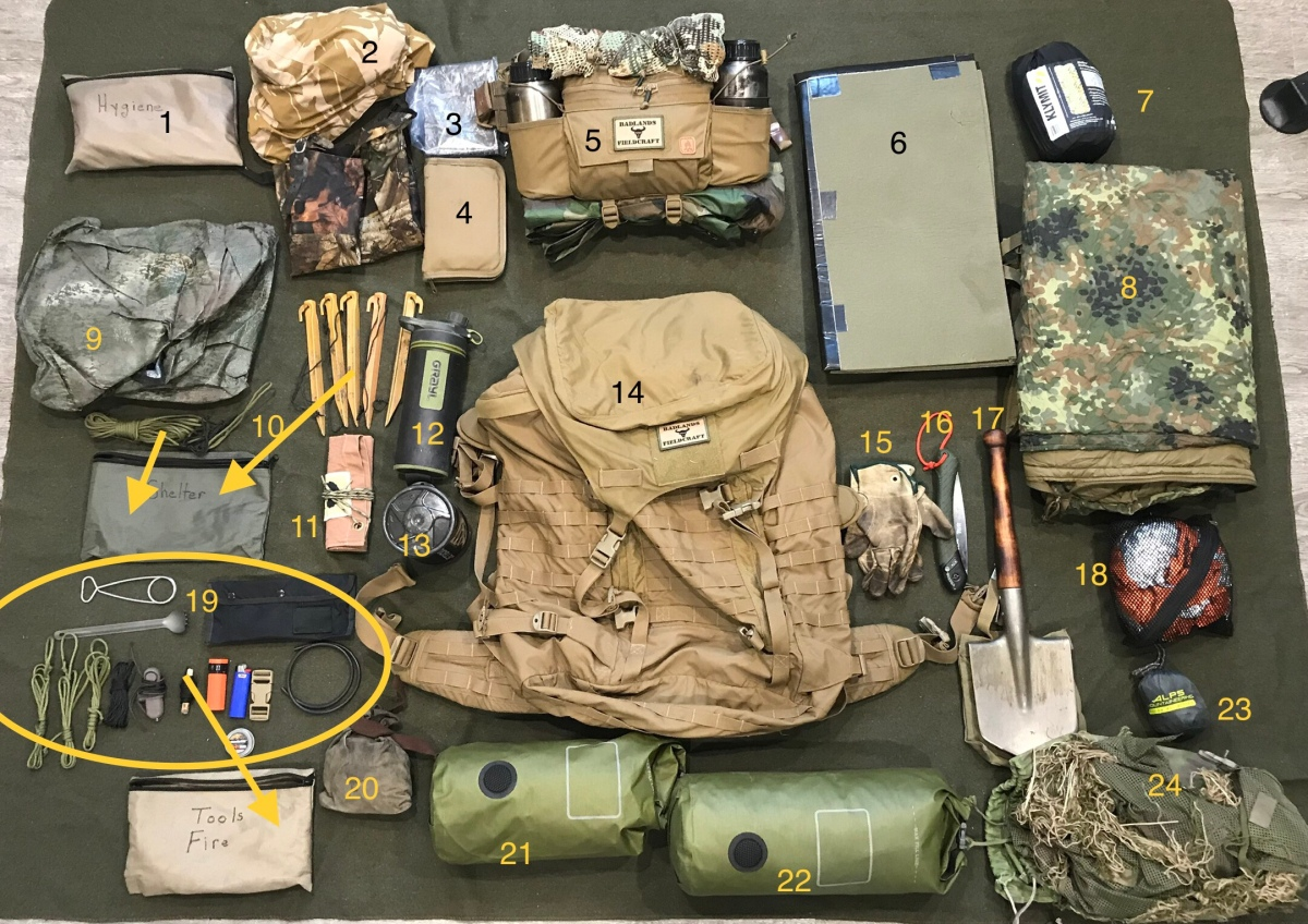 """Junk On The Bunk: How I pack for """"The FieldcraftCourse"""""""